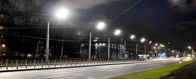 Запуск системы светодиодного освещения Светлановского проспекта