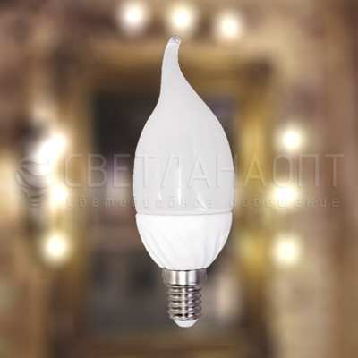 Светодиодная лампа iRLED C37 свеча E14 5W