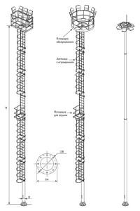 Высокомачтовые трубчатые опоры со стационарной короной (ВМОНТ)