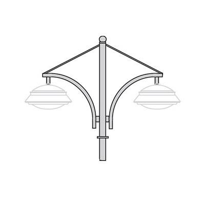 Кронштейн для подвесного и торшерного светильника К46
