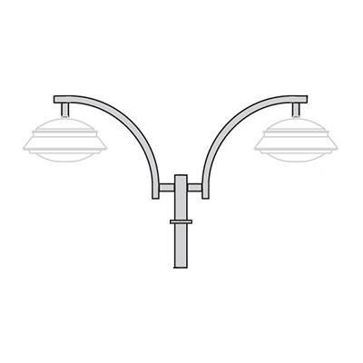 Кронштейн для подвесного светильника К45
