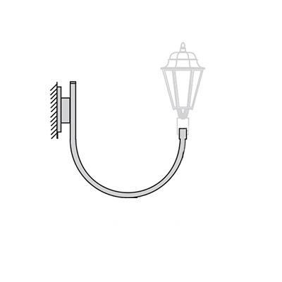 Кронштейн для светильника на стену К30н