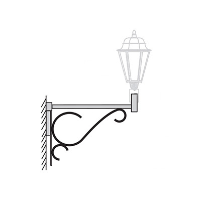 Кронштейн для светильника на стену К36