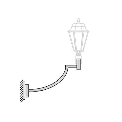 Кронштейн для светильника на стену К41н